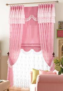 【摩尔登】简洁温馨 浪漫粉红卧室窗帘 布艺品牌定做窗帘
