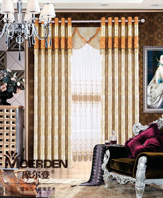 中式窗帘布艺图片