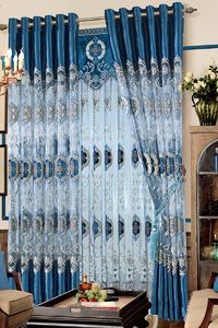 【摩尔登】中式风格半遮光窗帘 大厅卧室窗帘定做