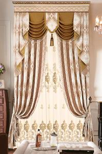 【摩尔登】低调奢华雪尼尔提花欧式窗帘 卧室大厅别墅窗帘定做