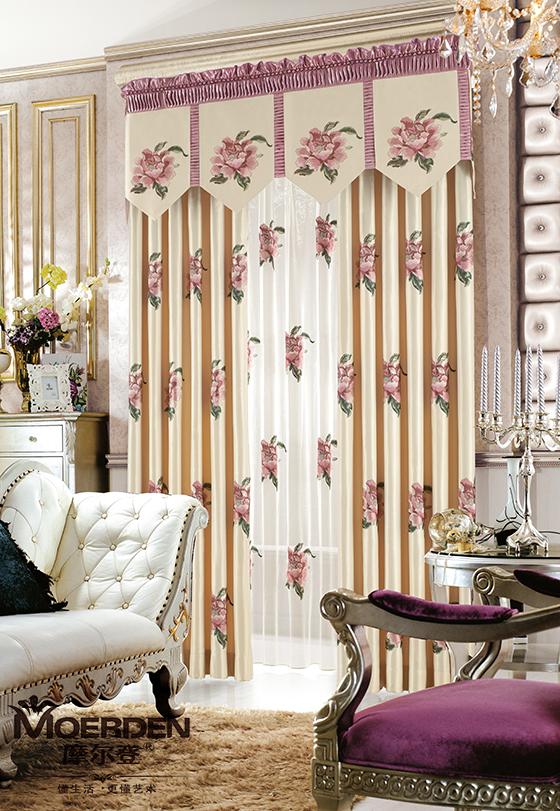 欧式窗帘装修效果图-新中式卧室窗帘装修效果图