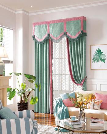 【摩尔登】2017都市时尚布艺窗帘 拼接清爽自然舒适的卧室窗帘布艺窗帘品牌加盟