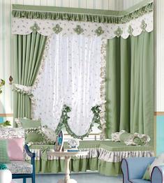 【摩尔登】清新碎花大窗帘 大厅视觉窗帘 卧室印花窗帘品牌