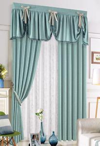 【摩尔登】北欧棉麻料简约窗帘 客厅卧室大窗帘品牌定做