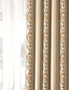 【摩尔登】2017美式光触媒技术遮光提花窗帘 精美的条纹花型 别致清新的卧室大厅窗帘布艺