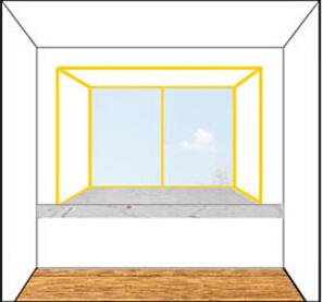 定制窗帘测量方法