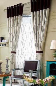【摩尔登】都市条形印花窗帘 窗帘卧室印花摩尔登窗帘品牌