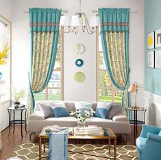 【摩尔登】2017美式数码拼接印花窗帘 卧室印花摩尔登十大窗帘品牌加盟