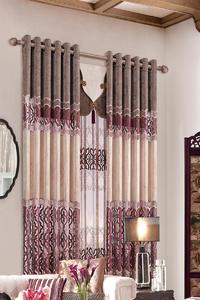 【摩尔登】中式绣花风格半遮光窗帘 别墅大厅卧室窗帘