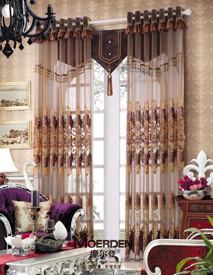现代中式窗帘装修效果图