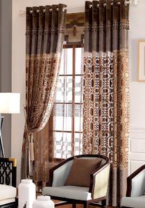 【摩尔登】2017唯美中式精致绣花工艺  有层次感的半遮光窗帘 大厅卧室窗帘定做