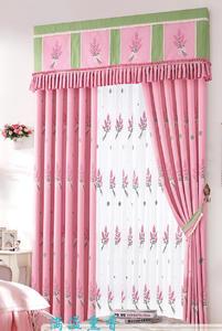 【摩尔登】田园系列春天的薰衣草窗帘 客厅印花窗帘品牌