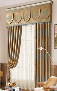 【摩尔登】2017中式简约花型混搭 半遮光窗帘 大厅卧室窗帘品牌