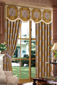 【摩尔登】中式经典复古简洁风格半遮光窗帘 大厅卧室窗帘定做