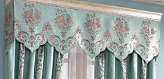 【摩尔登】2017美式光触媒技术遮光提花窗帘 平滑雅致的家居装饰 卧室大厅窗帘布艺