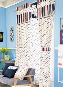 【摩尔登】繁星点点印花窗帘 窗帘卧室印花摩尔登窗帘品牌