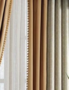 【摩尔登】2017光触媒技术窗帘 简约时尚的小饶条纹 平板帘头书房客厅窗帘布艺品牌加盟
