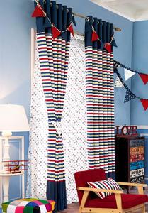 【摩尔登】时尚条纹印花窗帘 窗帘卧室印花摩尔登窗帘品牌