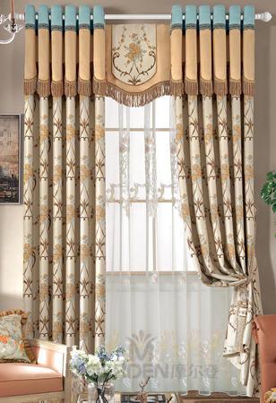 【摩尔登】2017美式光触媒技术遮光提花窗帘 浪漫优雅的卧室大厅窗帘布艺