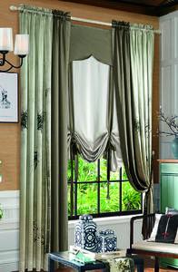 【摩尔登】2017中式数码印花 结合现代美感的 卧室窗帘布艺 窗帘品牌加盟