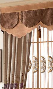 【摩尔登】2017中式金色丝绣花传统图案 半遮光窗帘 大厅卧室窗帘定做