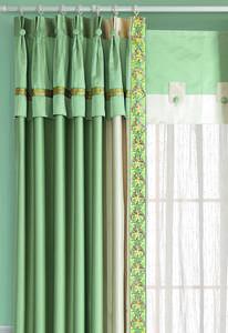 【摩尔登】2017都市时尚布艺窗帘 清绿和淡雅的卧室窗帘布艺 窗帘品牌