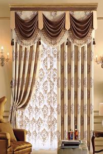 【摩尔登】古典的家居雪尼尔简欧风格窗帘 卧室大厅窗帘品牌