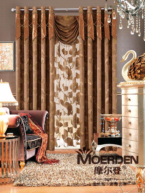 新中式卧室窗帘装修效果图