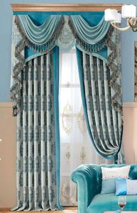 【摩尔登】2017 欧式光触媒技术提花遮光窗帘 雪尼尔面料的卧室客厅窗帘品牌定做