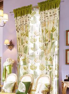 【摩尔登】翠绿清新印花窗帘 大厅窗帘 卧室印花窗帘品牌