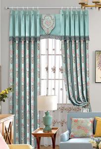 【摩尔登】2017 美式光触媒技术遮光提花窗帘  优美线条和造型 的卧室大厅窗帘布艺