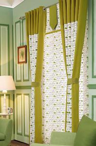 【摩尔登】绿色清新卡通印花窗帘 大厅窗帘 卧室印花窗帘品牌