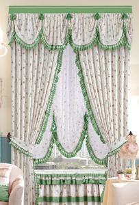 【摩尔登】田园系列碎花棉窗帘 清新自然 客厅印花窗帘品牌