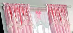 【摩尔登】2017简洁时尚温馨浪漫粉色系的卧室窗帘布艺品牌定做窗帘