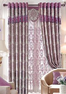 【摩尔登】2017现代光触媒技术的雪尼尔遮光提花窗帘 素雅与质朴的卧室大厅窗帘布艺
