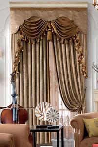 【摩尔登】2017奢华系列大气欧式花型窗帘 卧室大厅窗帘布艺品牌