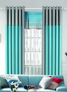 【摩尔登】2017都市时尚明快的色彩拼接窗帘 简约而不简单的卧室窗帘布艺 窗帘品牌