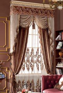 【摩尔登】2017奢华高贵激光绣花欧式窗帘 卧室客厅窗帘品牌定做
