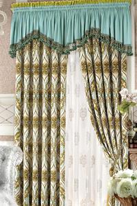 【摩尔登】田园系列时尚唯美亚光绒布客厅数码印花窗帘布艺