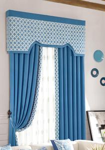【摩尔登】都市简约棉布提花 时尚经典的花型 客厅窗帘品牌