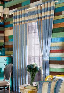 【摩尔登】绿色枫叶印花窗帘 窗帘卧室印花摩尔登窗帘品牌