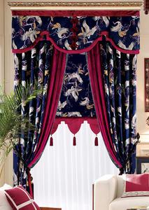 【摩尔登】唯美中式风格数码印花窗帘  卧室客厅窗帘布艺
